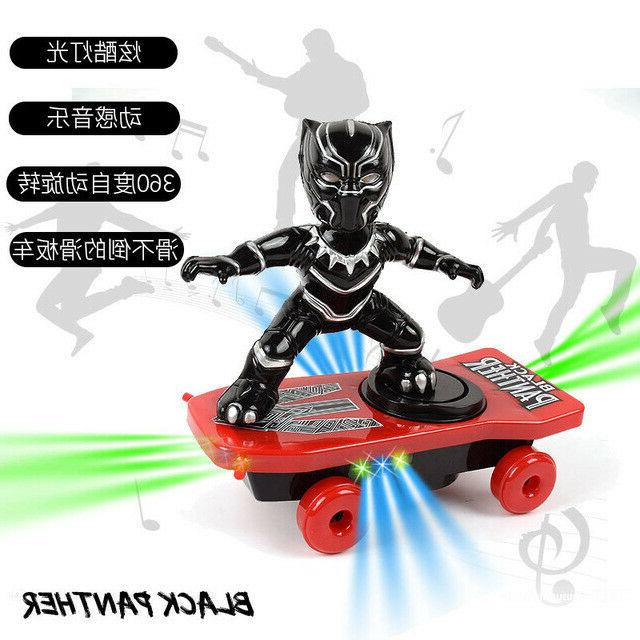 Spiderman/Iron man Scooter Electric Car Music led Light