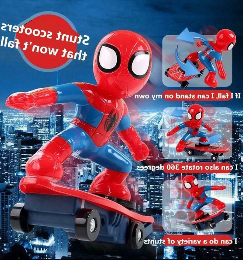 Spiderman/Iron Scooter Electric Car Music Light