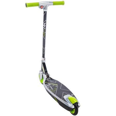 Sturdy, Tough Smooth to Green Battery-Powered Scooter With Foot Easy Fold Storage,a Gift Kids