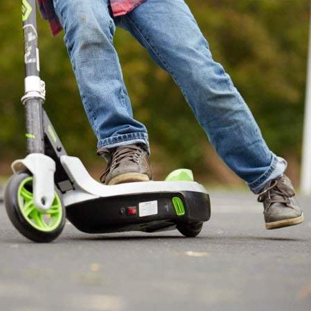 Sturdy, to Huffy Electric Green Battery-Powered Scooter With Foot Easy Fold for Storage,a Gift for