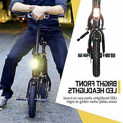 NEW SWAGTRON SwagCycle -Folding Electric Bicycle with 10 Mile Range