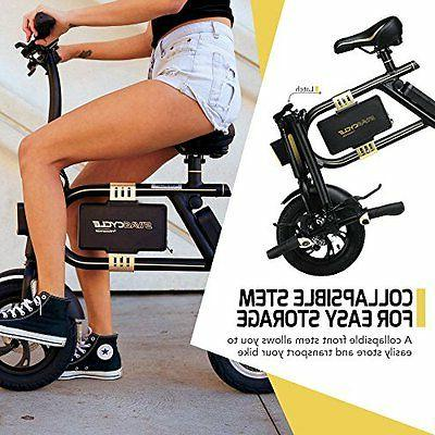 NEW SWAGTRON E-Bike -Folding Electric Bicycle with 10 Mile Range Black