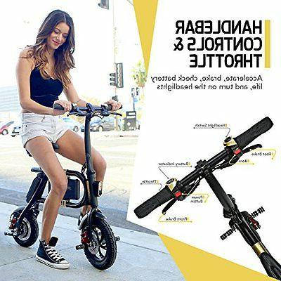 NEW SWAGTRON E-Bike -Folding 10 Mile Black