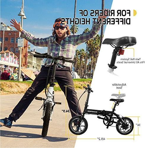 SWAGTRON Swagcycle Lightweight & Folding with Pedals,