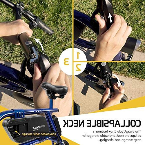 Swagtron 200W Steel Frame Folding Bicycle e Bike Headlight Reach mph; Load