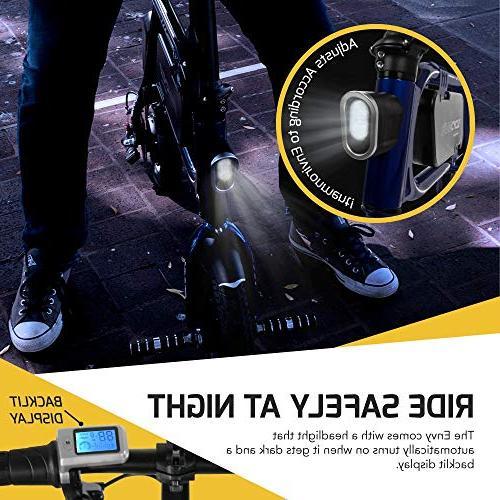Swagtron Steel Folding Bicycle Bike Headlight Reach mph; 264 lbs Load -Black