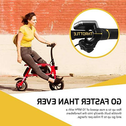 Swagtron Steel Bicycle e Headlight mph; 264 lbs Load