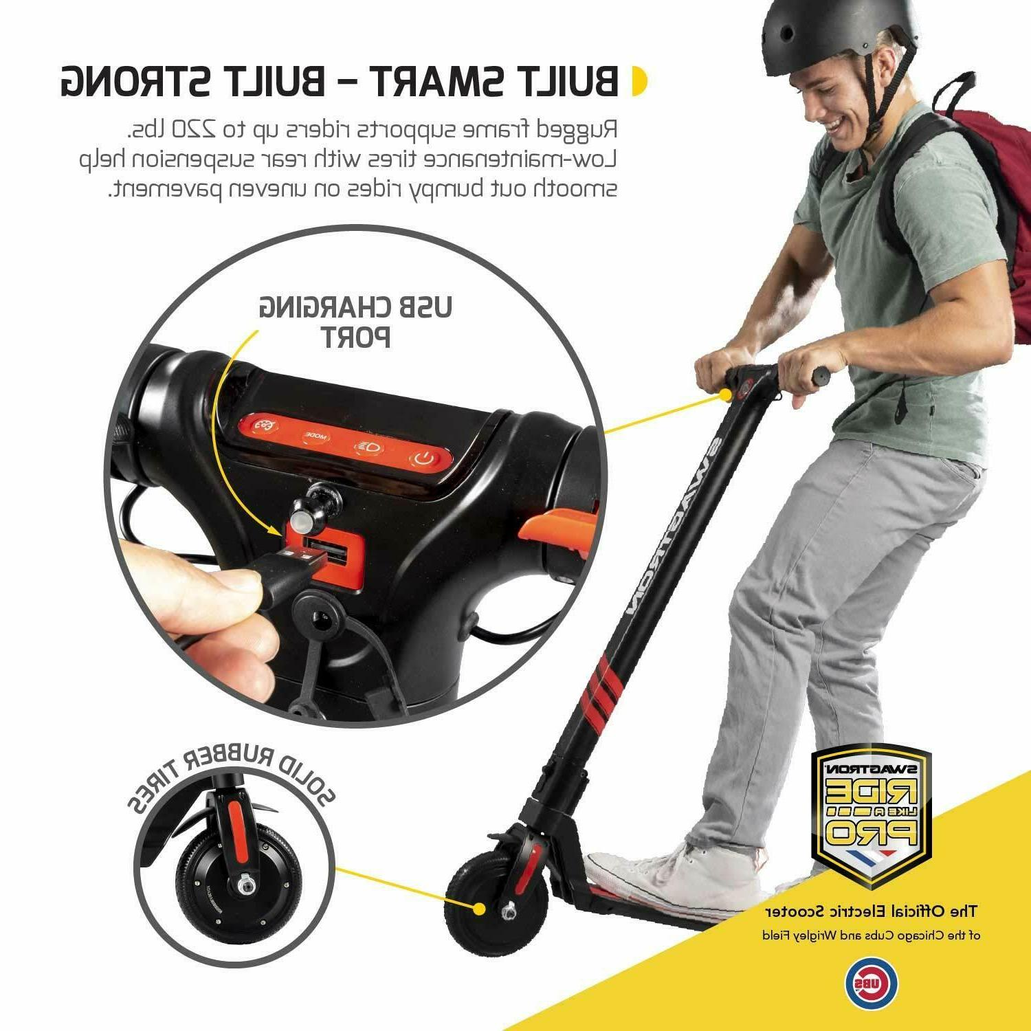 Swagger Foldable Electric Scooter w/ Control 15.5 Speed