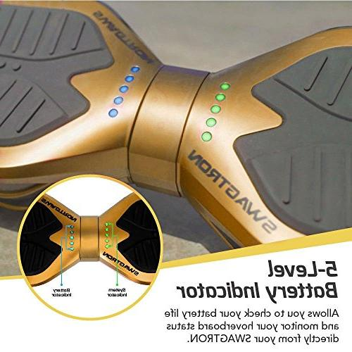 Swagtron T380 Hoverboard - Bluetooth Personalize w/Android/iOS App