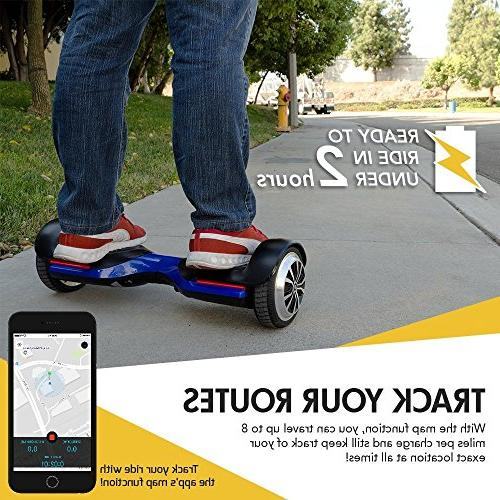 Swagtron T580 App-Enabled Hoverboard Self-Balancing Wheel on iPhone Android