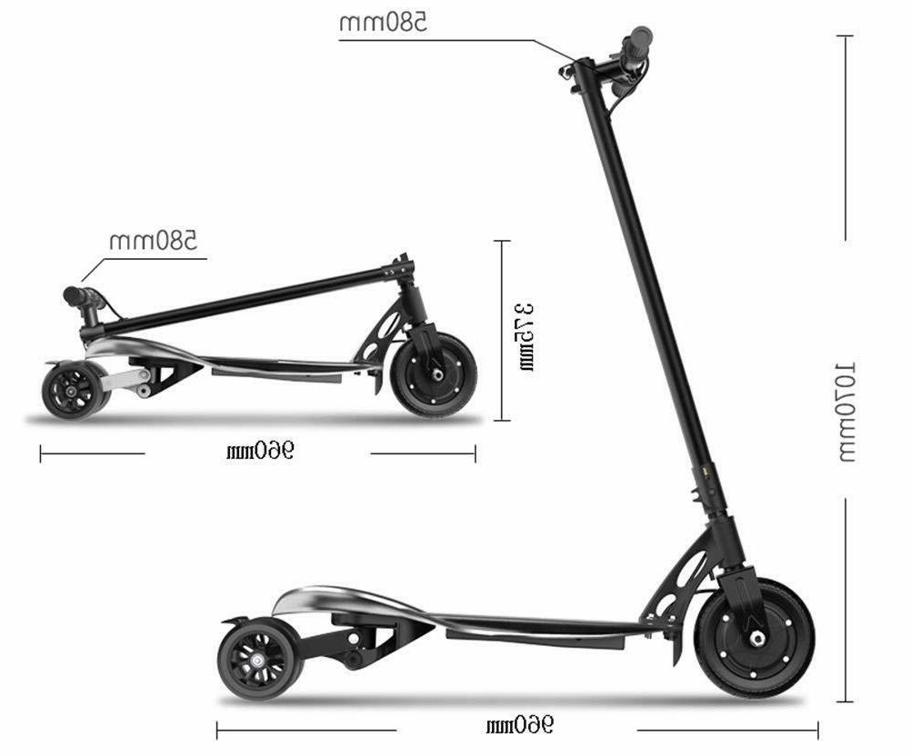Three-Wheel Folding Electric Ultra-Light Adult Small Scooter