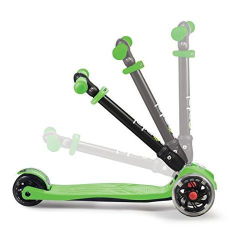 Jetson Folding Kick Light-Up Wheels, Lean-to-Steer Design Height Adjustable Kids -