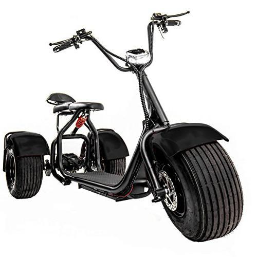 eDrift Tires 3-Wheel Electric Trike Scooter with Harley E-Bike