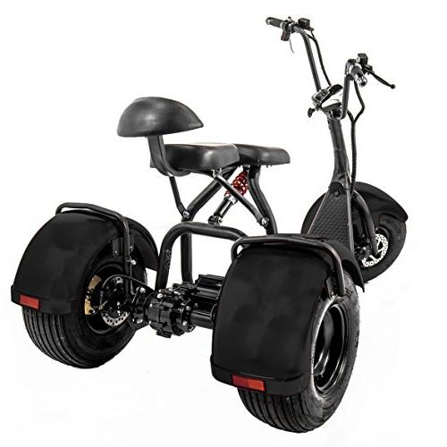 eDrift UH-ES395 Fat 3-Wheel Scooter Moped with Harley