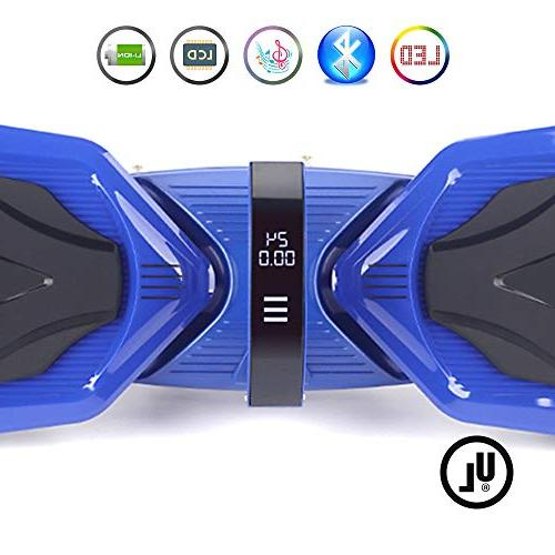 Levit8ion Hoverboard Self 2 Electric Scooter Certified Detachable Samsung Battery, and Speed/Temp LCD - Blue
