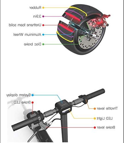Mercane Foldable Safe Kick and Wide Tires, 500W More Than 19Miles Battery, 18MPH, from CA