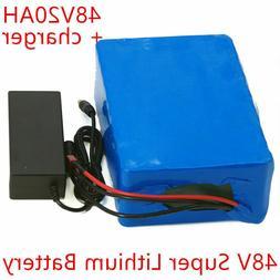 Li-ion Battery 48V 20AH Volt Rechargeable Bicycle 1200W E Bi
