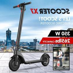 Max 350W Electric Scooter Skateboard Riding Kick Bike Foldin