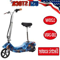 Maxtra Folding Electric Scooters with Seat for Teens 155lbs