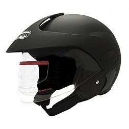 MMG Motorcycle Open Face Helmet DOT Street Legal - Flip Up C