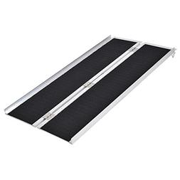 Goplus® Multi-Fold Aluminum 5' Non-Skid Wheelchair Ramp Mob