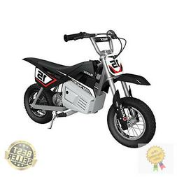 Razor MX350 Dirt Rocket Electric Black Moto Bike w/ Helmet,