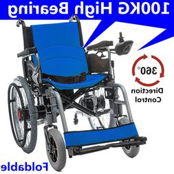 New Folding Safe Power Electric Wheelchair Elderly Disabled