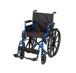 NEW Drive Medical Blue Streak Wheelchair Flip Back Desk Arms