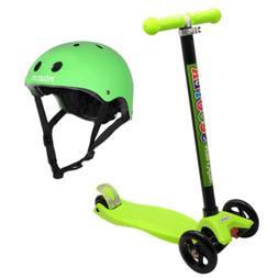 NextGen Scooters 3 Wheeled Kick Scooter, Green & Kazam Multi