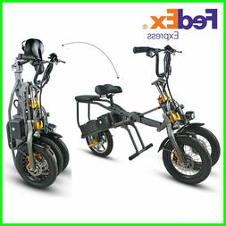 Off Road Electric Scooter Bike 30Kmh 350W 48V Foldable Bicyc