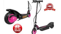 pink electric scooter motorized kids girls rechargeable
