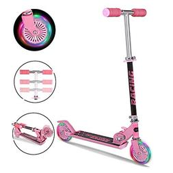Pink Scooters Folding Portable Aluminum Kick Scooter With Li