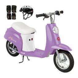 Razor Pocket Mod Betty Kids Electric Motor Scooter w/Helmet,