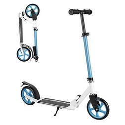 Reteim Portable Folding Kick Scooter for Teens Adult with Ex