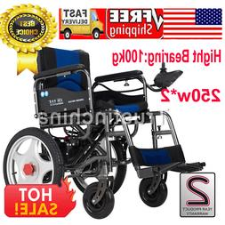 Power Electric Wheelchairs Folding Portable Elderly Disabled