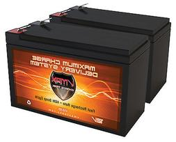 QTY 2: VMAX63 12V 10AH AGM Battery for Razor e200 e200s e225