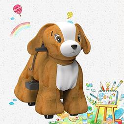 Hoverheart Rechargeable 6V/7A Plush Animal Ride On Toy for K