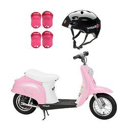 Razor Rechargeable Ride-on Scooter + Bicycle Helmet + Elbow