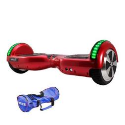Red Hoverboard LED Self Balancing 6.5inch Electric Skateboar