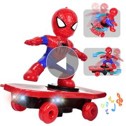 Revengers 4 Marvels Spider Man Electronic Toy <font><b>Stunt