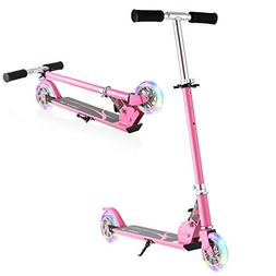 Hikole Kids Scooter for Boys Girls Age 3-8 | 2 Wheel Foldabl