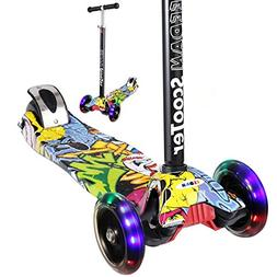 EEDAN Scooter for Kids 3 Wheel T-bar Adjustable Height Handl