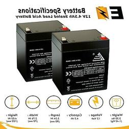 Set of 2 12v 4.5Ah SLA for Razor E100 E125 E150 E175 Electri