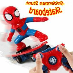 Spiderman 2.4GHZ 4CH RC Stunt Scooter Skateboard 360° Rotat