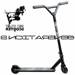 STEALTH BLACK Pro Style Aluminum Stunt Kick Scooter Skatepar