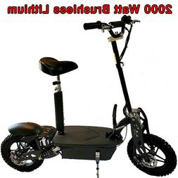 Super 1800 watt Lithium Brushless 48v 20ah Electric Scooter,