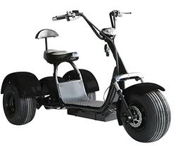 eDrift UH-ES395 Fat Tires 3-Wheel Electric Chopper Trike Sco