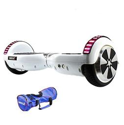White Hoverboard LED Self Balancing 6.5inch Electric Skatebo